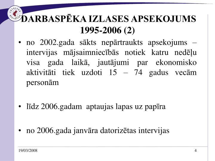 DARBASPĒKA IZLASES APSEKOJUMS