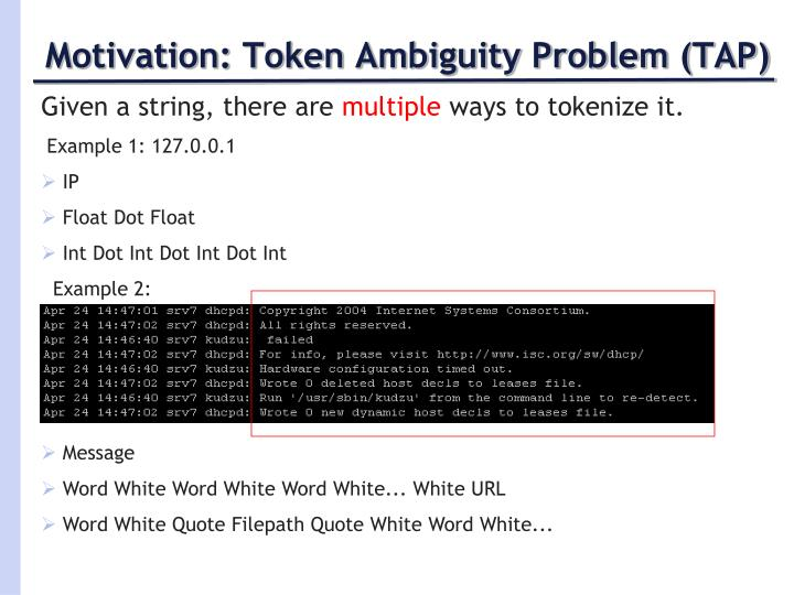 Motivation: Token Ambiguity Problem (TAP)