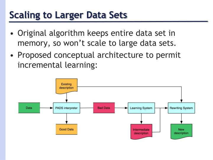 Scaling to Larger Data Sets