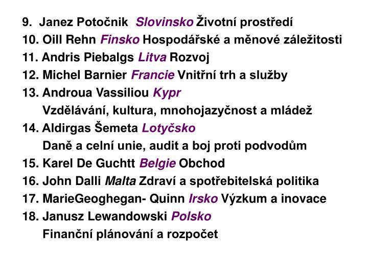 9.  Janez Potočnik
