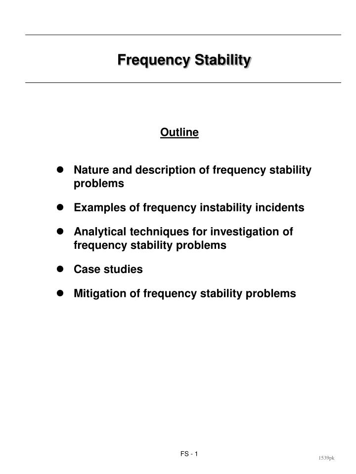 Frequency stability1