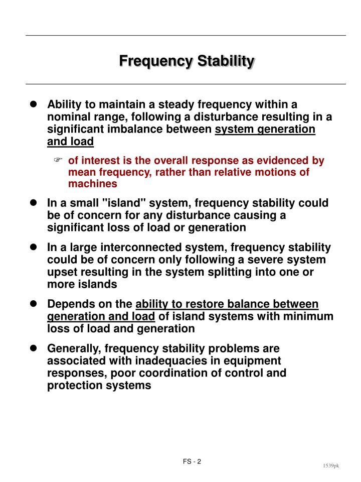 Frequency stability2