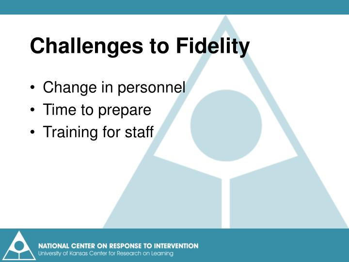 Challenges to Fidelity
