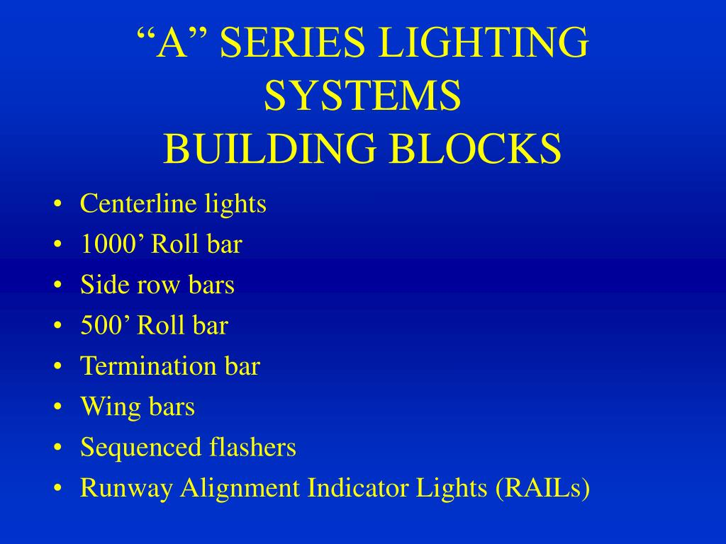 PPT - Approach and Runway Lighting Systems PowerPoint