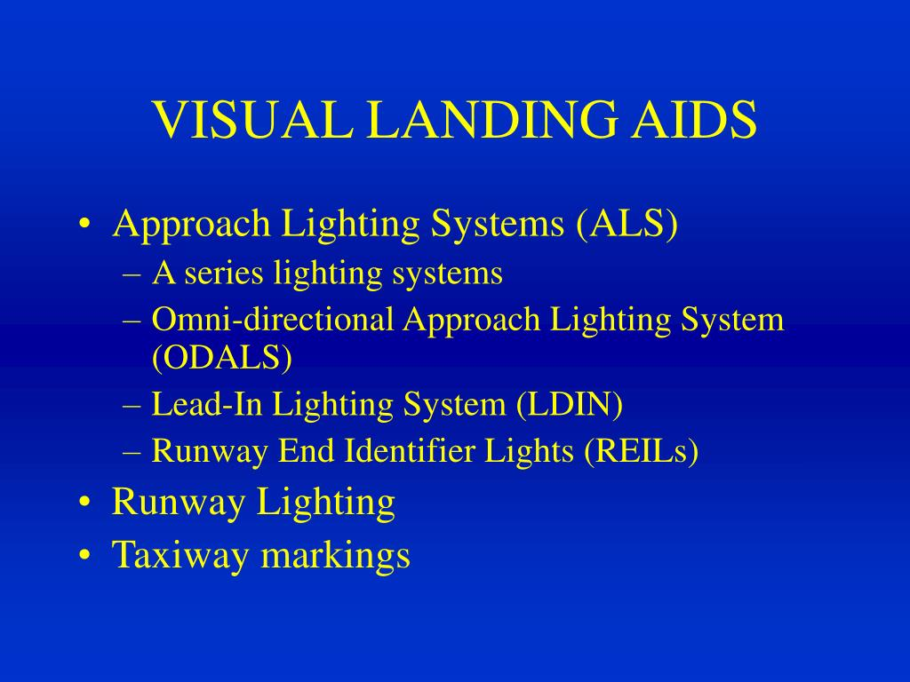 PPT - Approach and Runway Lighting Systems PowerPoint Presentation