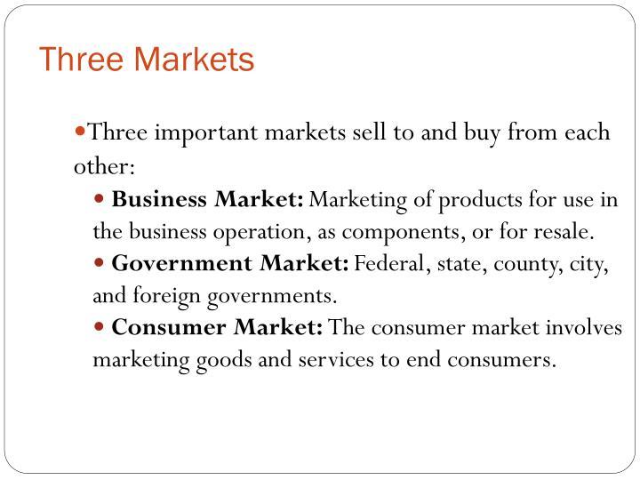Three Markets