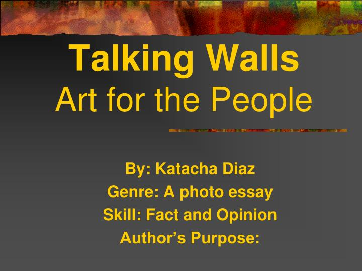 talking walls art for the people n.