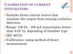 calibration of current integrators