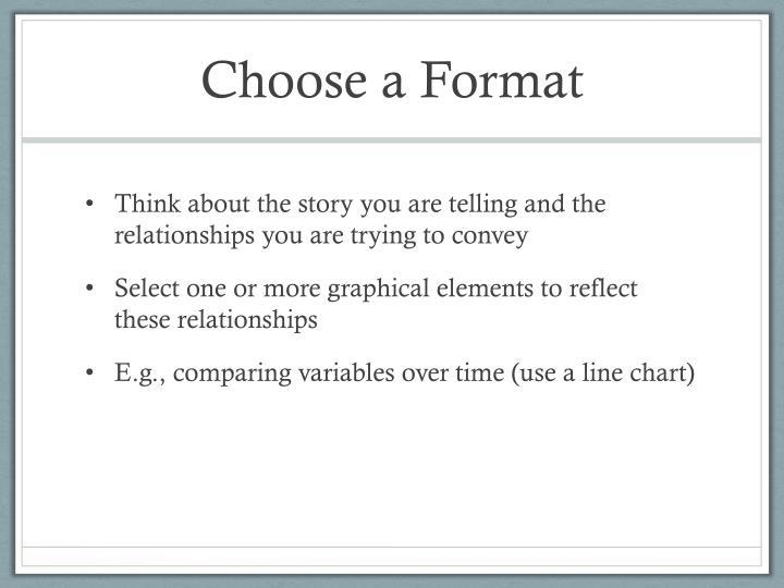 Choose a Format