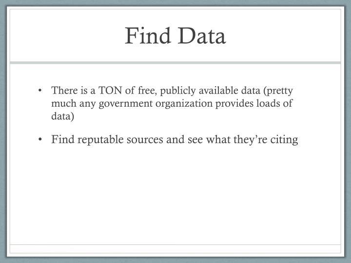 Find Data