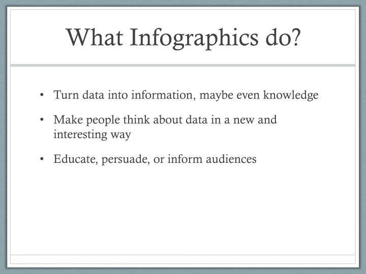 What infographics do