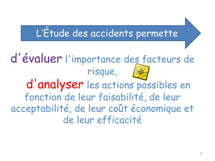 L'Étude des accidents permette