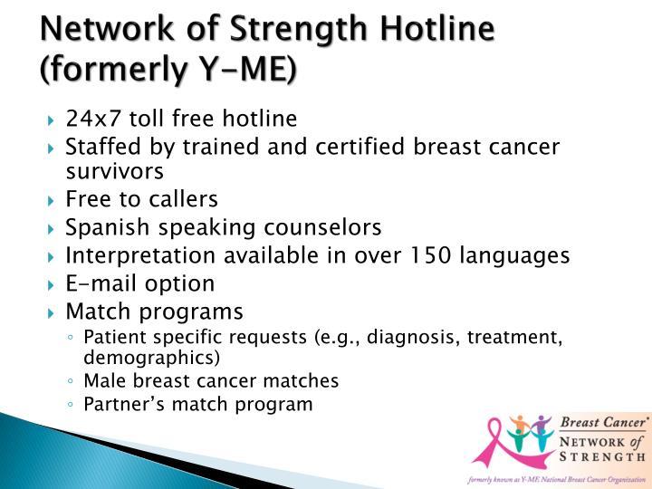 Network of Strength Hotline