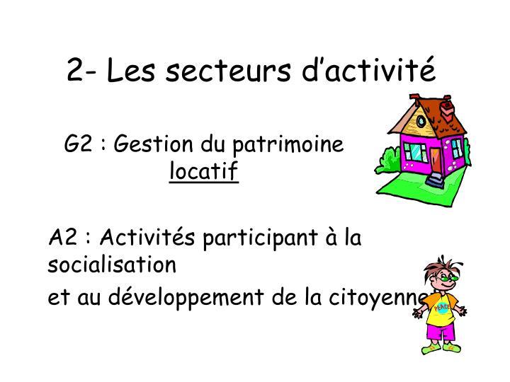 2- Les secteurs d'activité