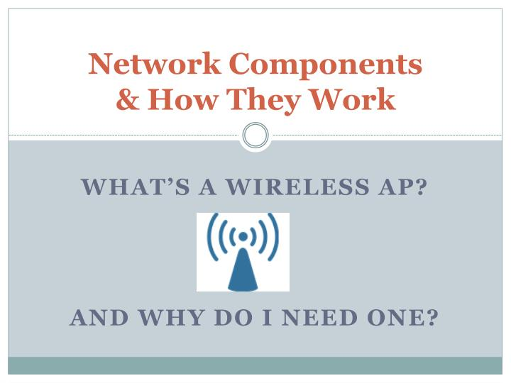 Network components how they work