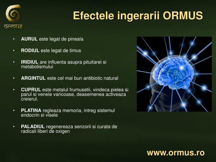 Efectele ingerarii ORMUS