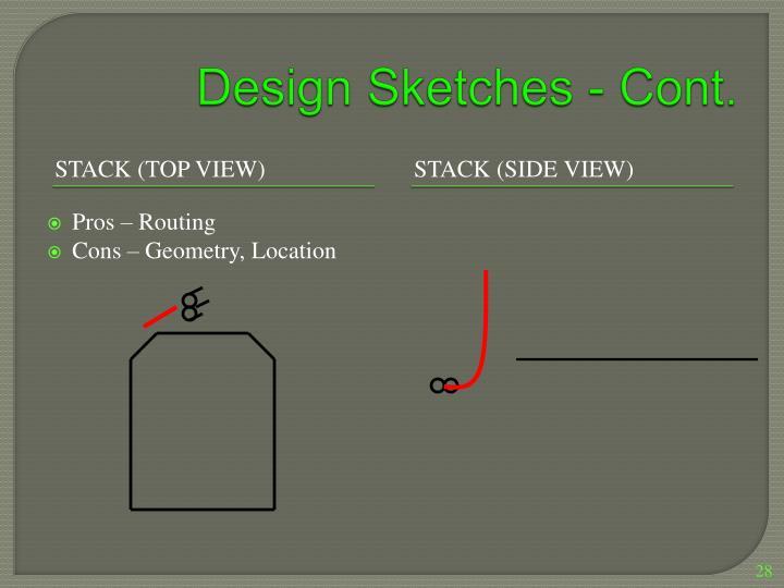 Design Sketches - Cont.