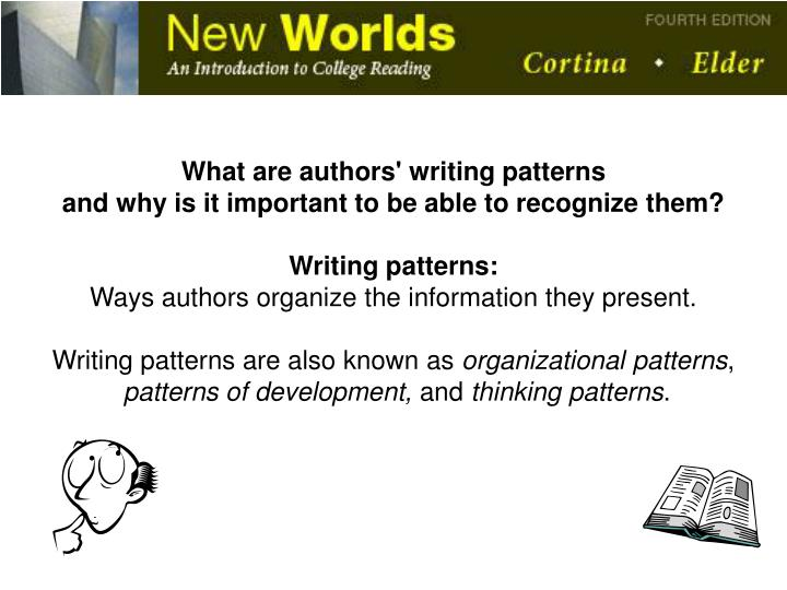 What are authors' writing patterns