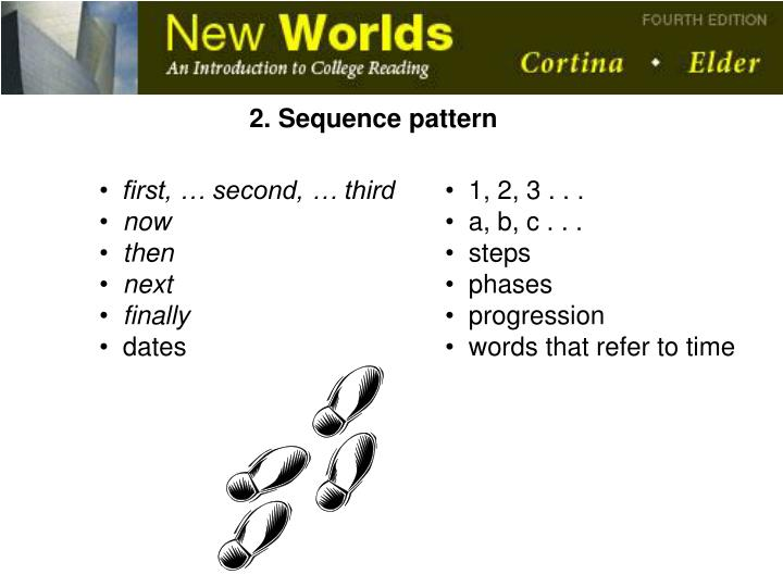 2. Sequence pattern