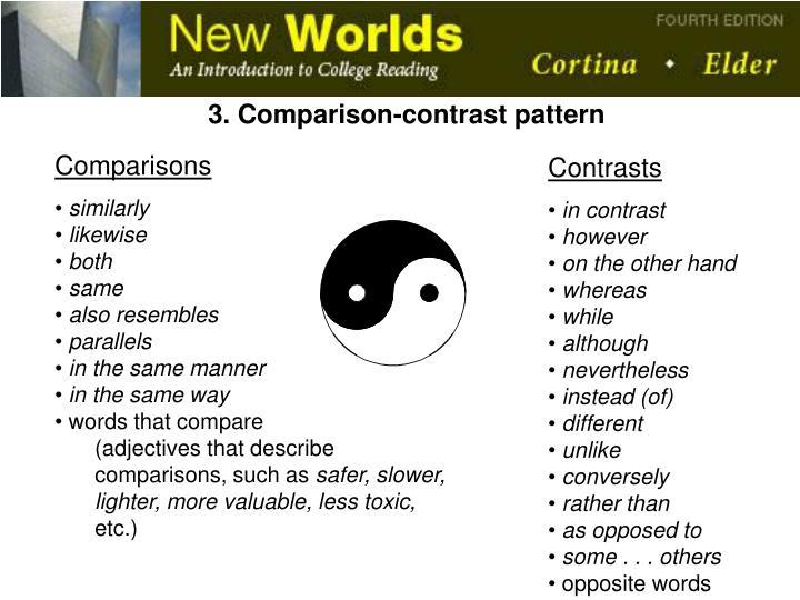 3. Comparison-contrast pattern