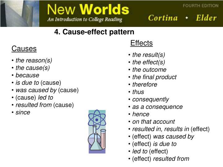 4. Cause-effect pattern