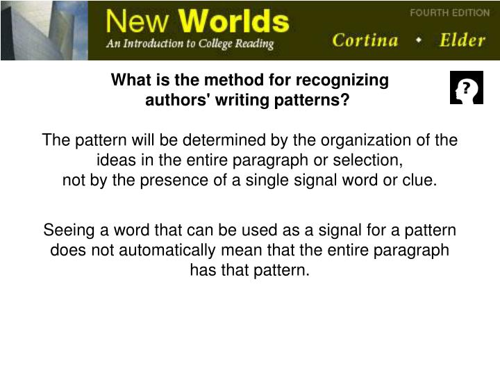 What is the method for recognizing