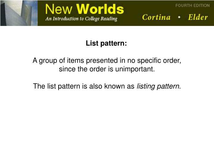 List pattern: