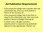 ad publication requirements