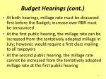 budget hearings cont