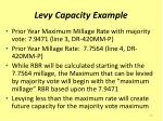 levy capacity example