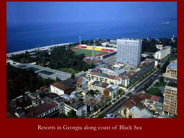 Resorts in Georgia along coast of Black Sea