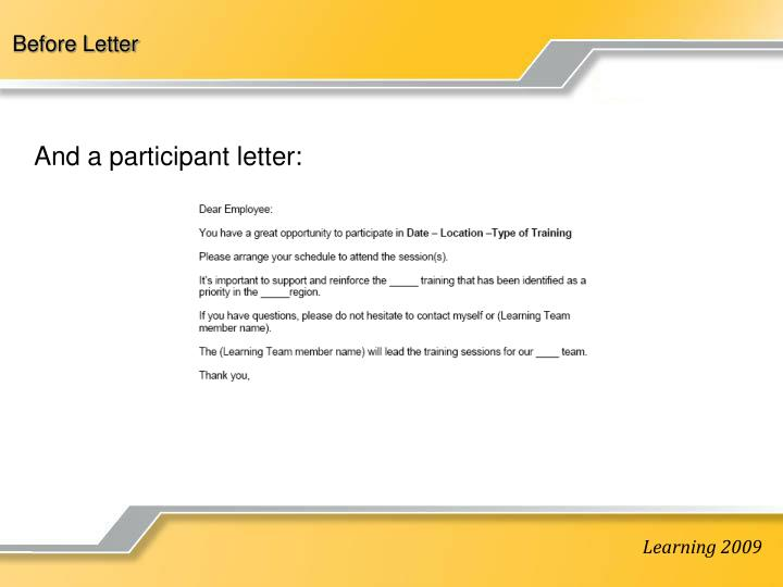 Before Letter