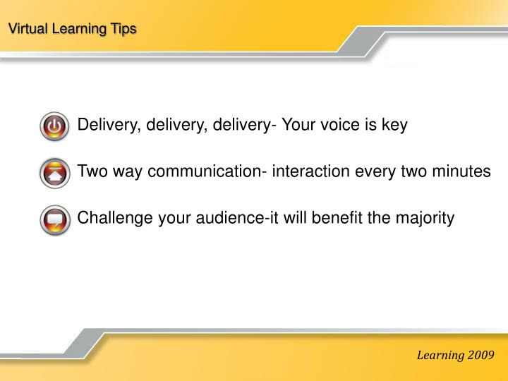 Virtual Learning Tips