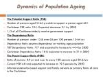 dynamics of population ageing