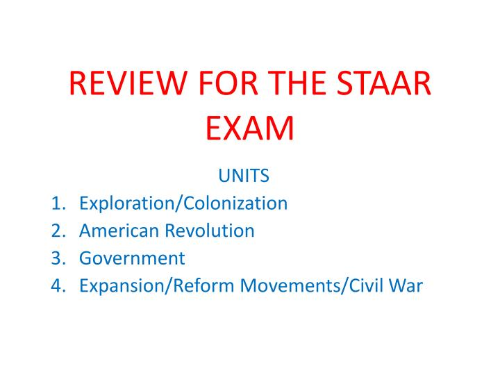 review for the staar exam n.