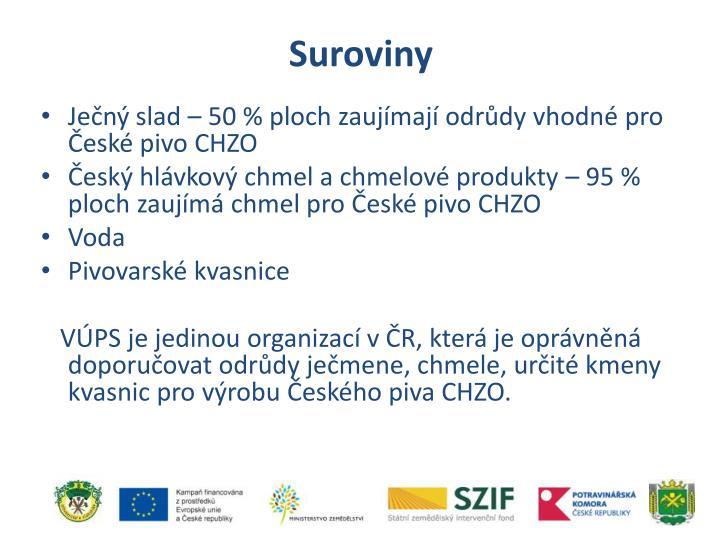 Suroviny