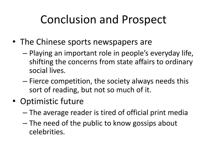 Conclusion and Prospect