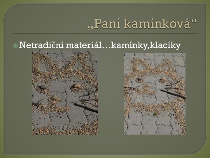 """""""Paní kamínková"""""""