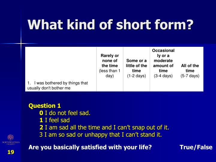 What kind of short form?