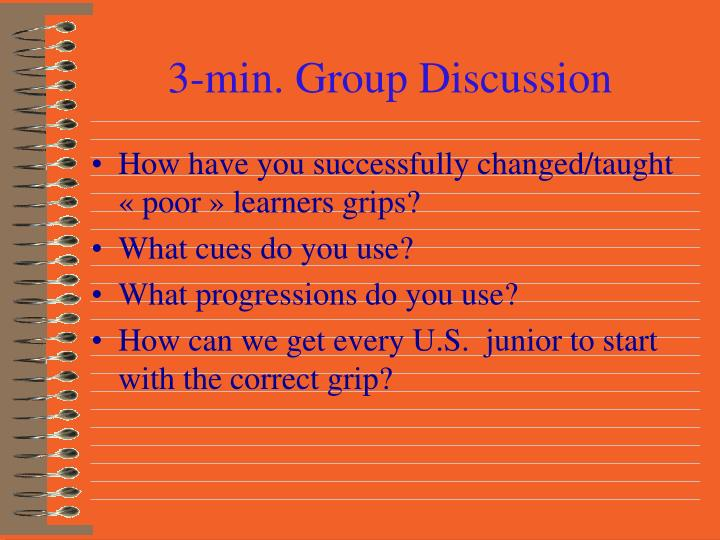 3-min. Group Discussion