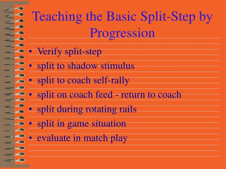 Teaching the Basic Split-Step by Progression