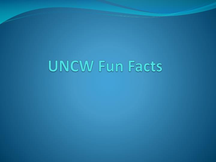 uncw fun facts n.