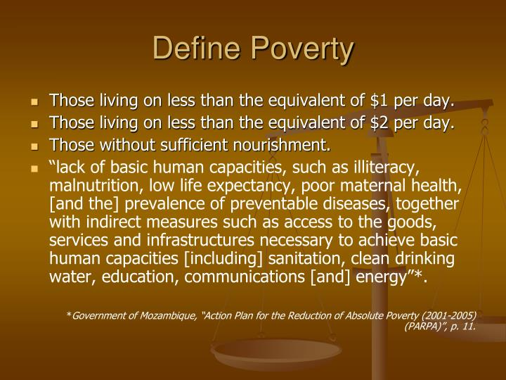 Define poverty