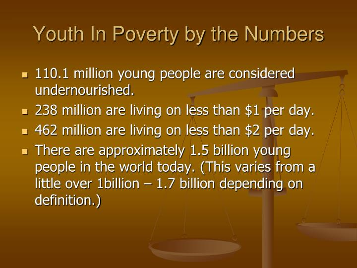 Youth In Poverty by the Numbers