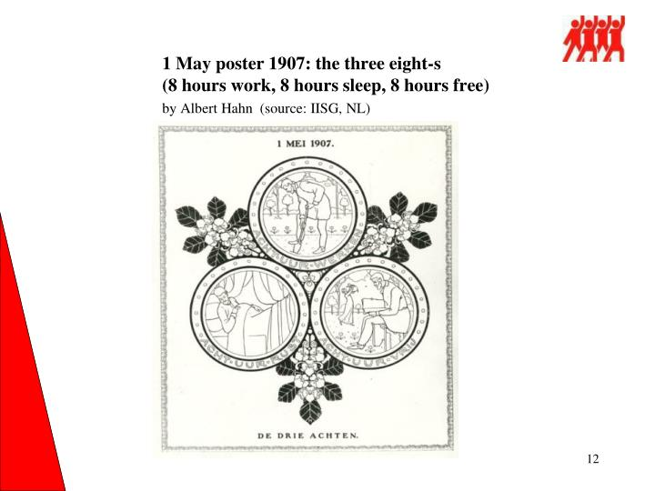 1 May poster 1907: the three eight-s