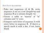 dot plot algorithm