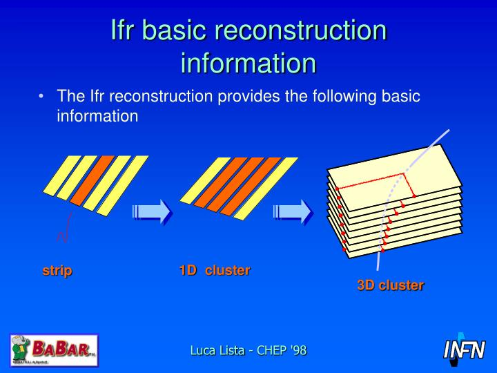 Ifr basic reconstruction information
