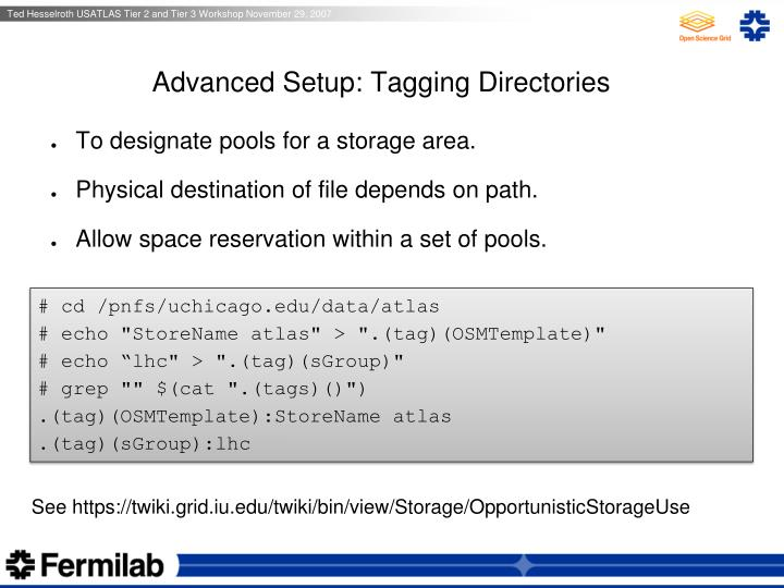Advanced Setup: Tagging Directories