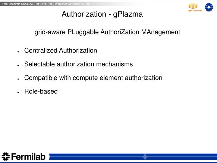 Authorization - gPlazma