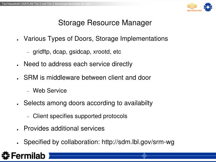 Storage Resource Manager